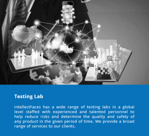 Intellectfaces demonstrating it's testing services