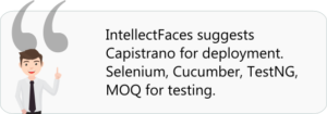 Intellectfaces suggestion for deployment tools