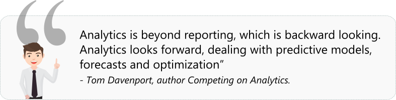 A quote by tom davenport on analytics